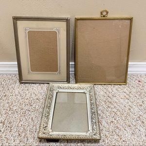 Vintage picture frame set